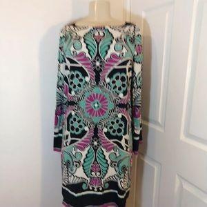 Nicole Miller Dress multicolor long sleeve!!!!!!♥️